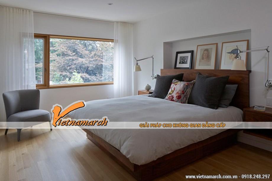 Nội thất phòng ngủ nhẹ nhàng ấm áp
