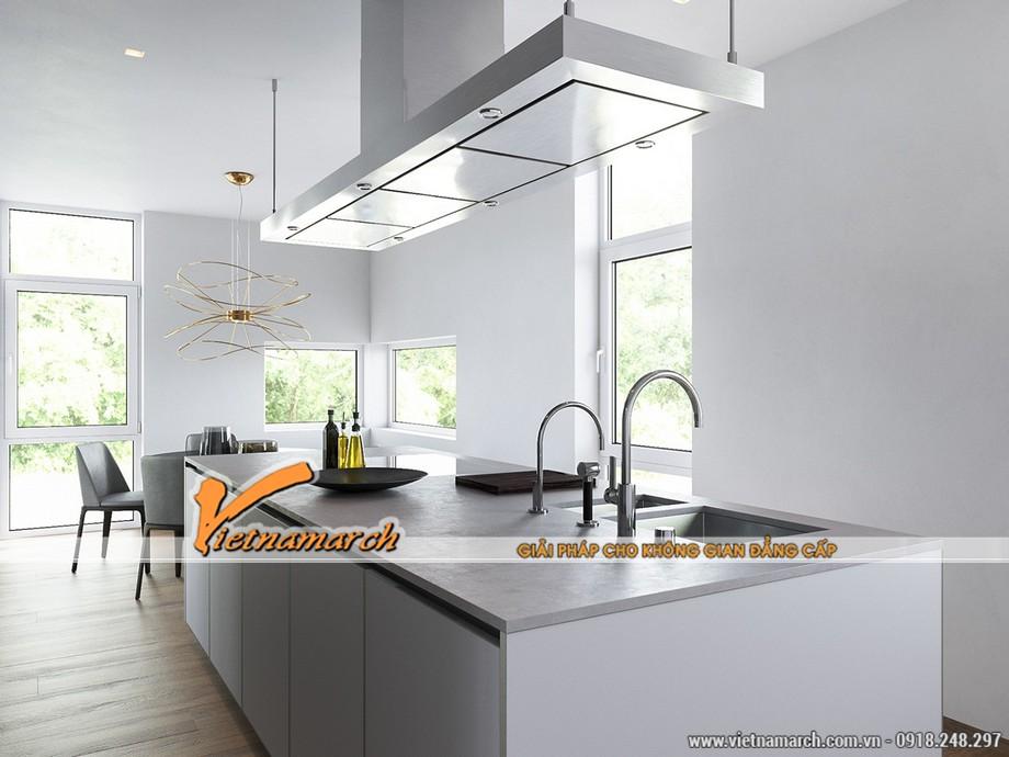 Thiết kế nội thất nhà phố căn bếp tinh tế