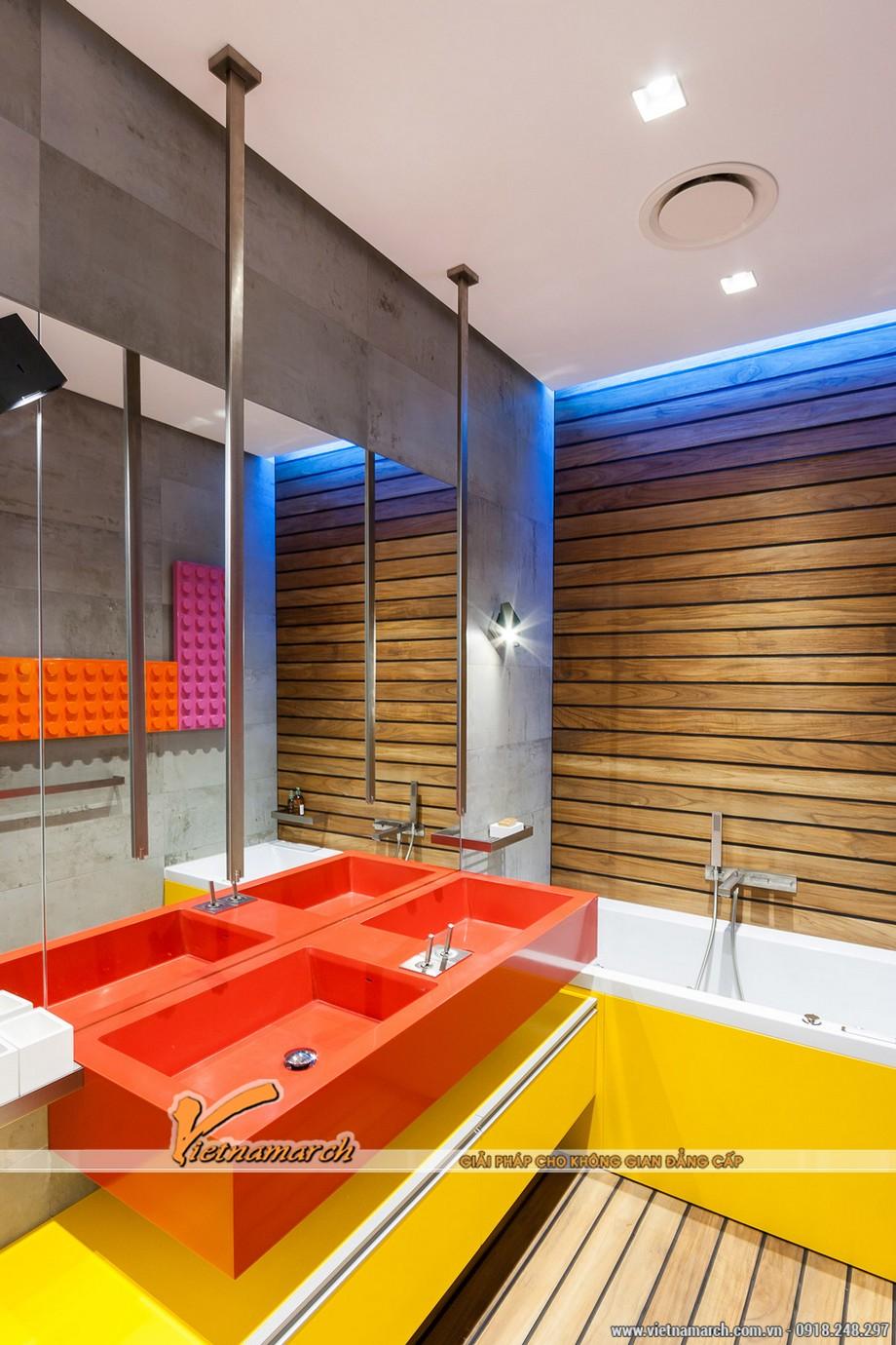 Nội thất phòng tắm thời trang và phong cách