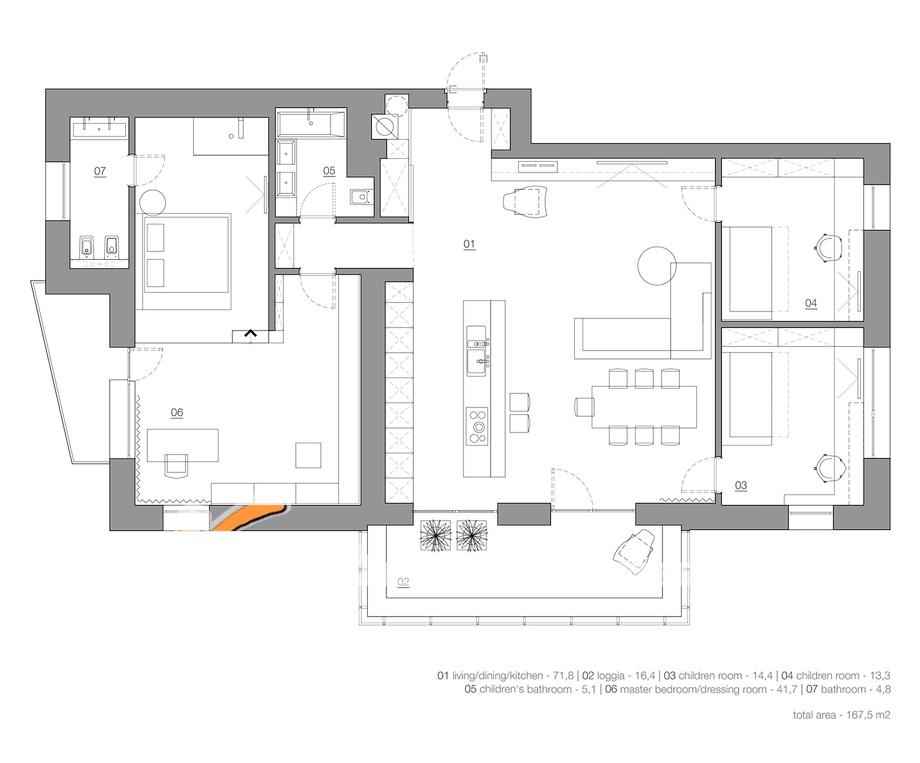 Bản thiết kế nội thất nhà phố tổng thể