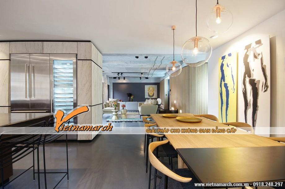 Không gian ánh sáng lôi cuốn của thiết kế nội thất chung cư nghệ thuật
