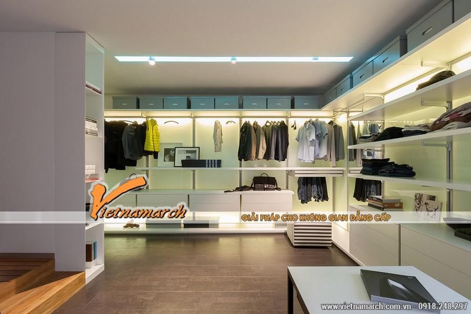 Thiết kế nội thất nhà phố sành điệu trong phòng thay đồ