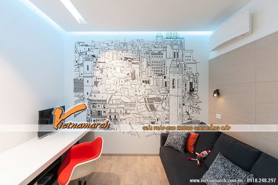 Thiết kế tường ngộ nghĩnh - một ý tưởng sáng tạo mà ít căn nhà nào có được