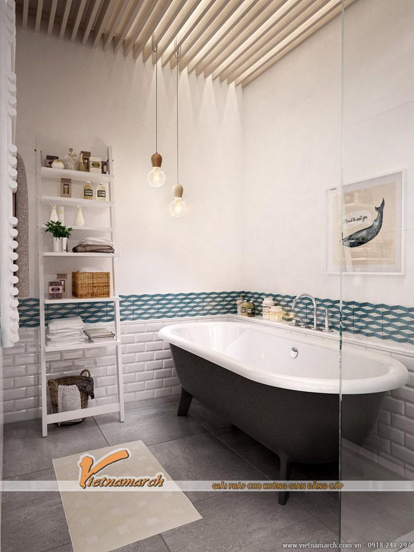 Nội thất phòng tắm đơn giản mà vẫn tiện nghi