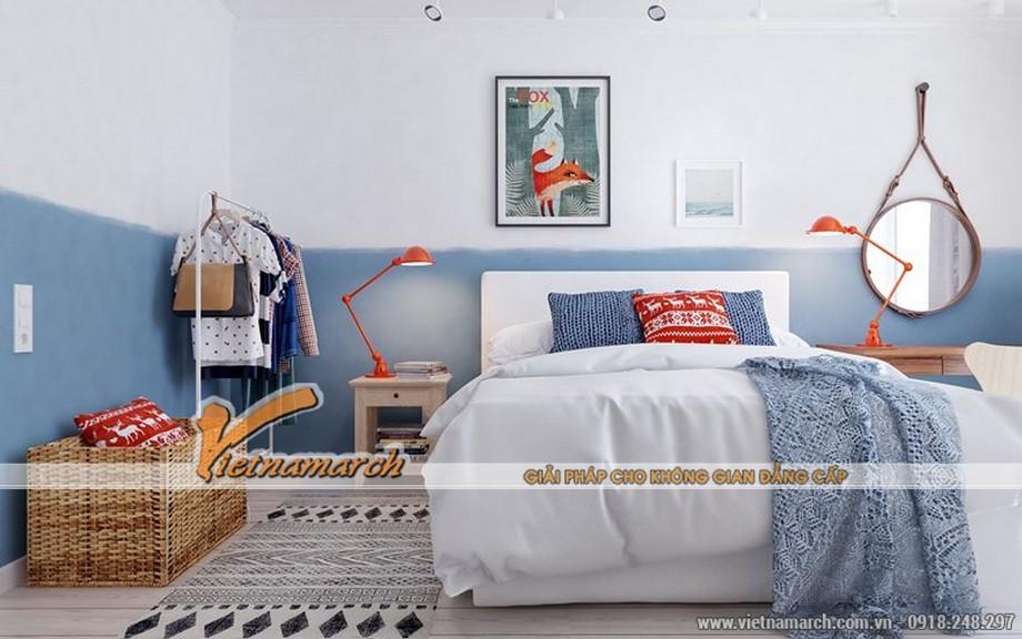 Thiết kế nội thất phòng ngủ mang tới là sự đơn giản và thoải mái