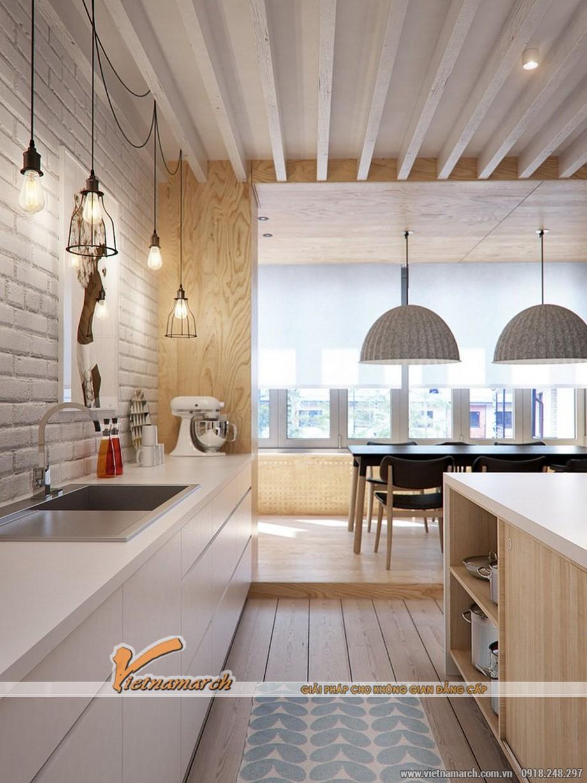 Thiết kế nội thất mang phong cách Nhật cho căn hộ CC Đông Đô - nội thất phòng bếp