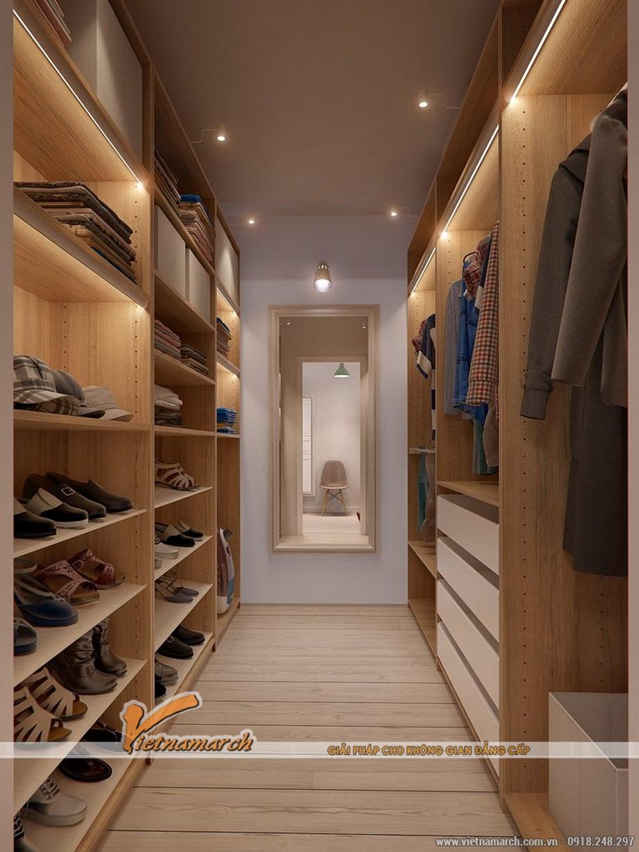 Tủ quấn áo được thiết kế hợp lý trong phòng ngủ