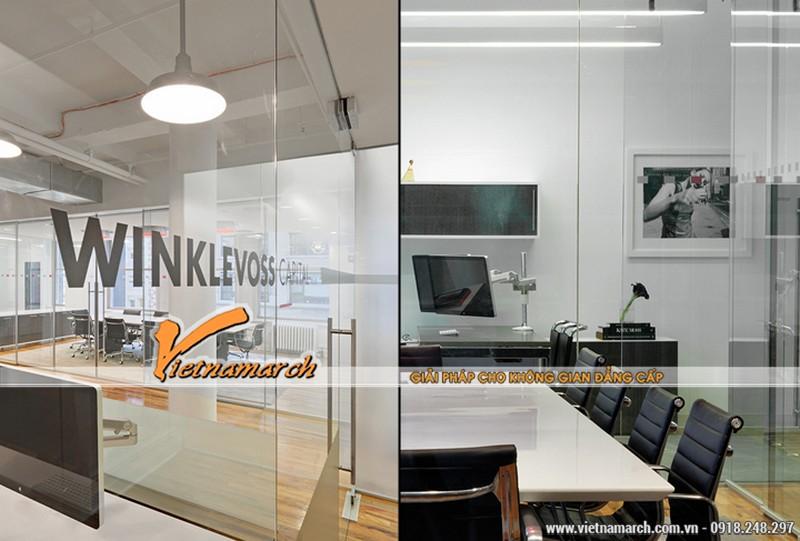 Nội thất văn phòng được sắp xếp một cách khoa học và khéo léo
