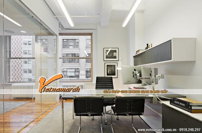 Thiết kế nội thất văn phòng hiện đại trong một không gian rộng