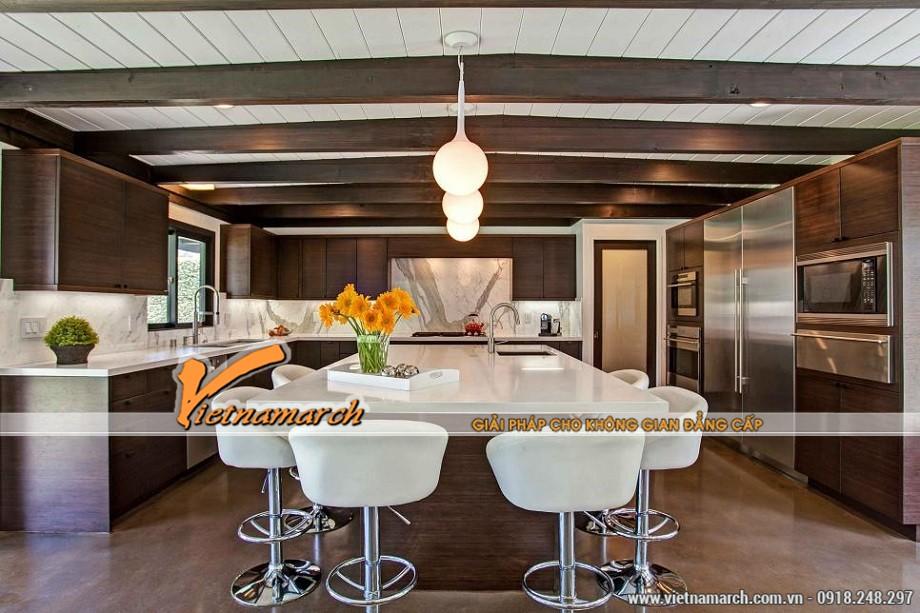 Ý tưởng độc đáo cho thiết kế nội thất nhà bếp sử dụng sự tương phản