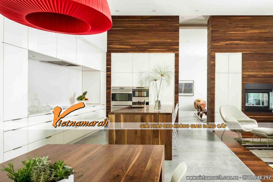 Thiết kế nhà bếp có không gian rộng lớn