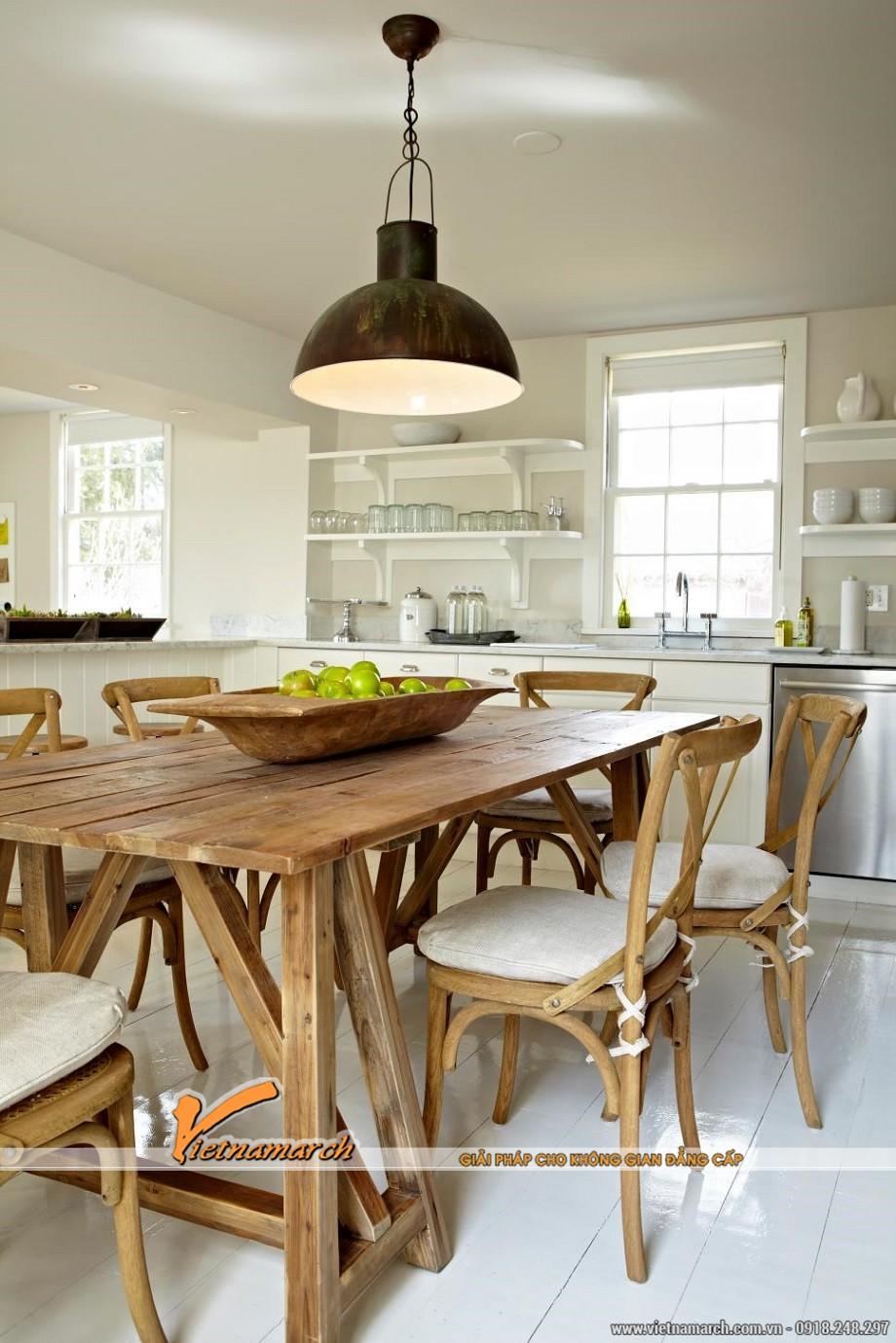 Nội thất nhà bếp hoàn hảo theo phong cách đồng quê giản dị