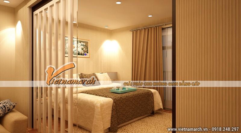 Thiết kế nội thất phòng ngủ ấm cúng - căn hộ mẫu chung cư park Hill Times City
