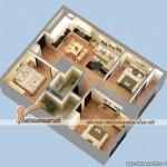 Nội thất hiện đại trong căn hộ mẫu 120m2 chung cư Times City