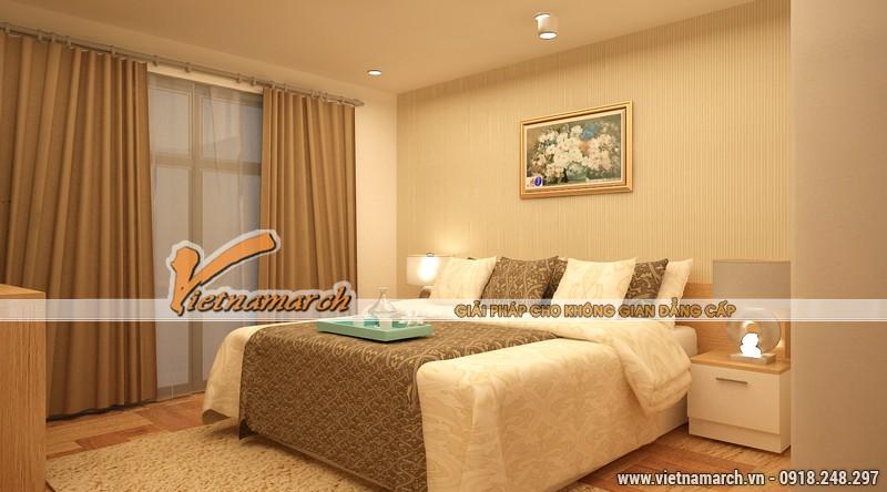 Phòng ngủ với màu sắc hài hòa giúp đảm bảo một không gian nghỉ ngơi lý tưởng cho chủ nhân