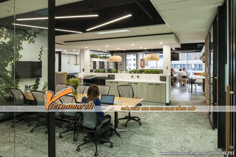 Mang không gian xanh vào trong thiết kế khu vực làm việc chung