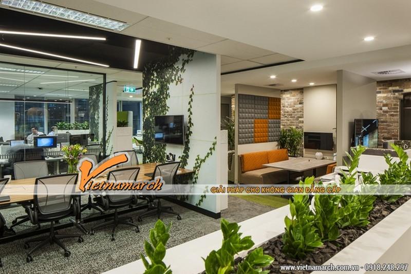 Ý tưởng mang không gian xanh vào trong thiết kế nội thất văn phòng - khu vực làm việc chung