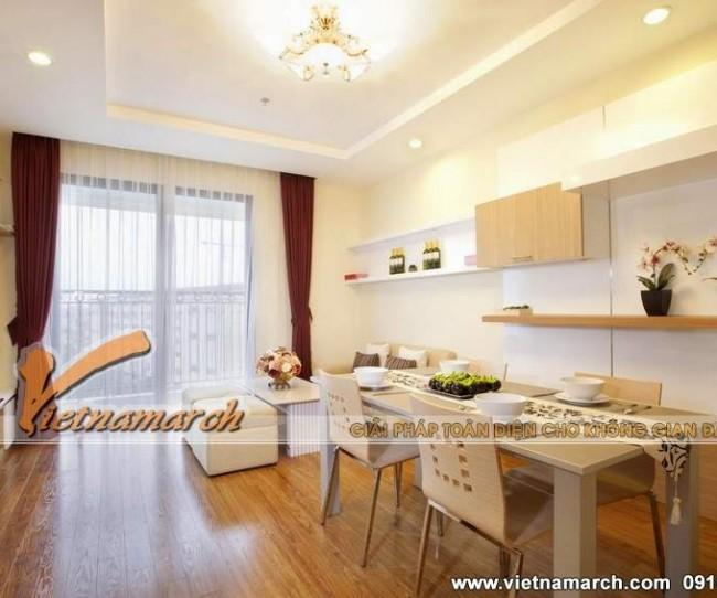 Thiết kế nội thất chung cư Times City, căn hộ T10.12 nhà cô Thuật