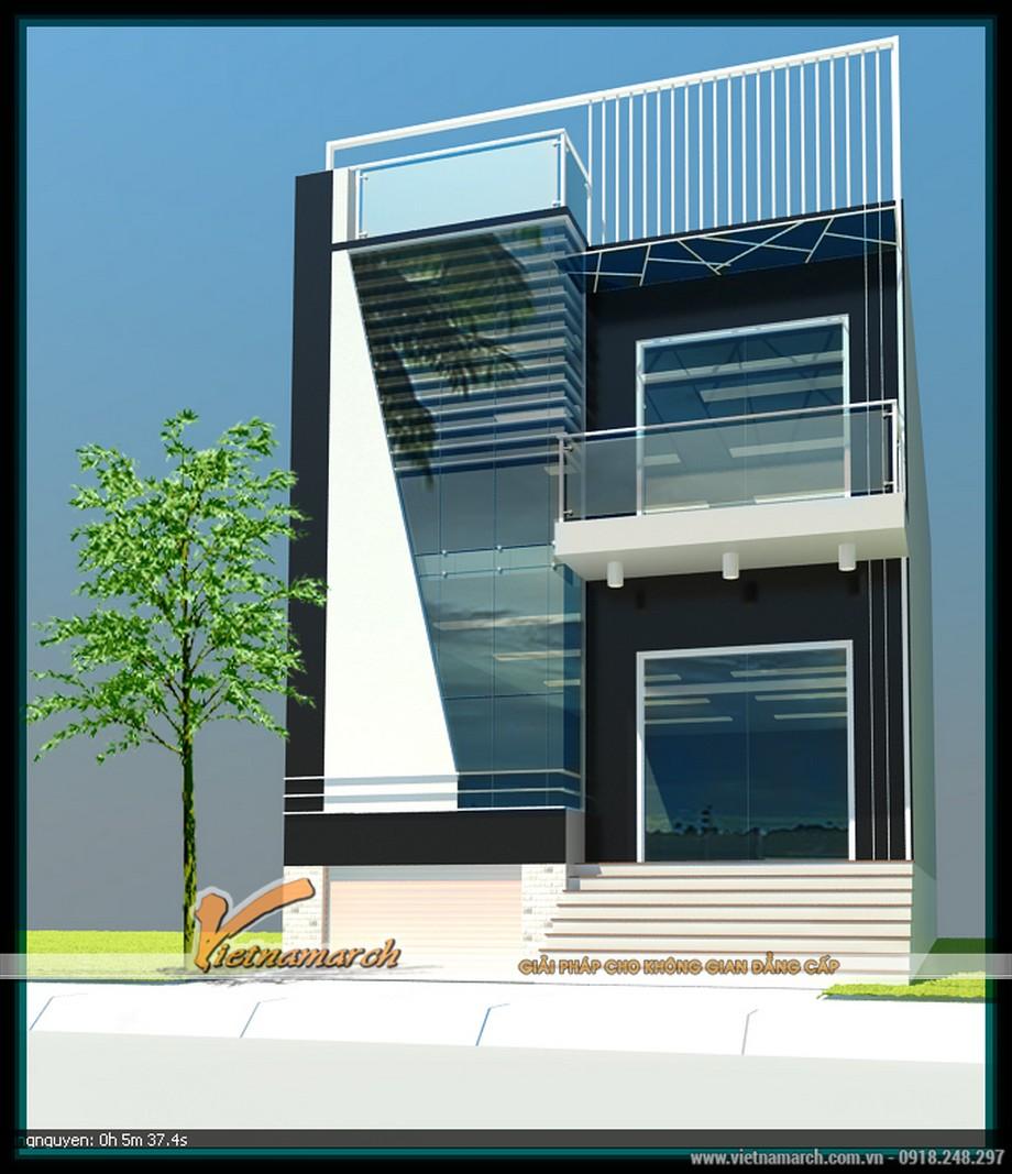 Thiết kế mẫu nhà lô phố thành trụ sở làm việc hiện đại cho nhà bác Cường- Hồ Tây