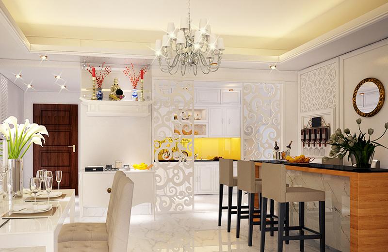 Bài trí phòng ăn vừa đẹp vừa sang - tư vấn thiết kế nhà đẹp