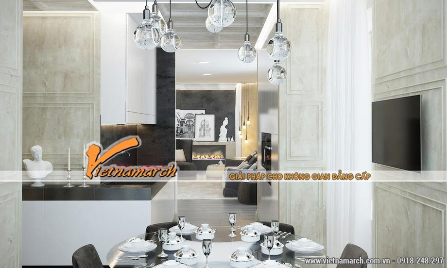 Thiết kế nội thất cổ điển phòng bếp