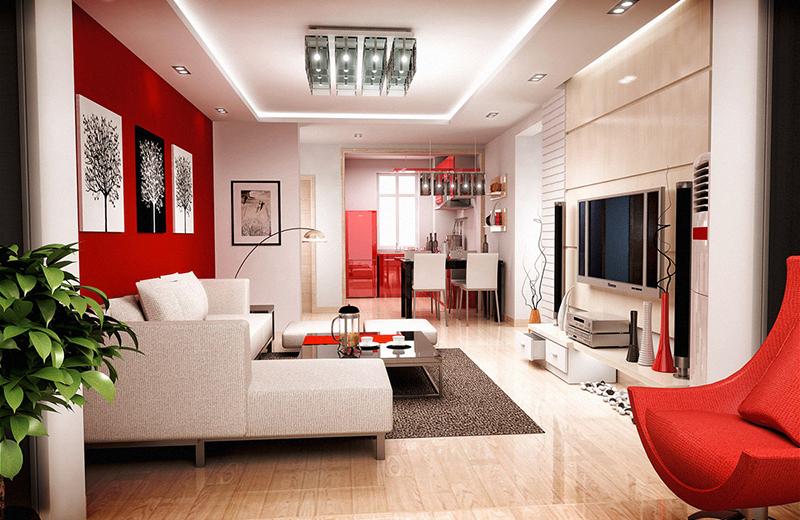 Người mệnh hỏa có thể sử dụng màu có tông như màu đỏ, hồng, hồng tím. - thiết kế nội thất hợp phong thủy