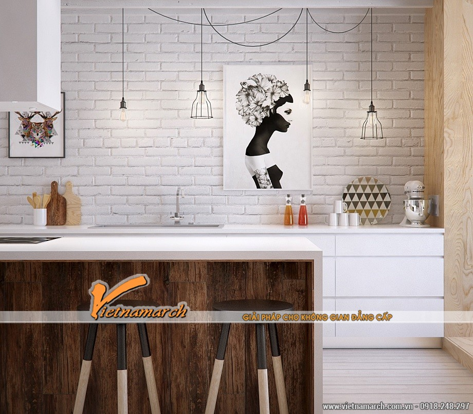 Nội thất nhà bếp đẹp kiểu mới này lấy ý tưởng từ công nghiệp