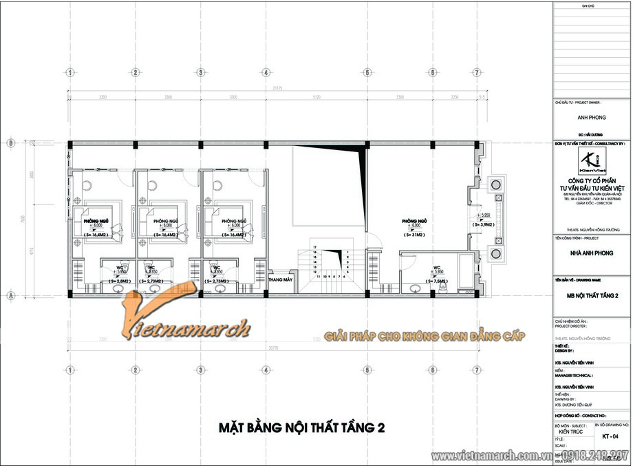 Bản vẽ mặt bằng thiết kế kiến trúc, nội thất tầng 2