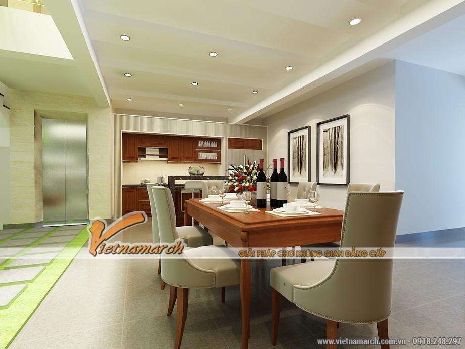 Toàn cảnh không gian nhà bếp hiện đại và ấm cúng