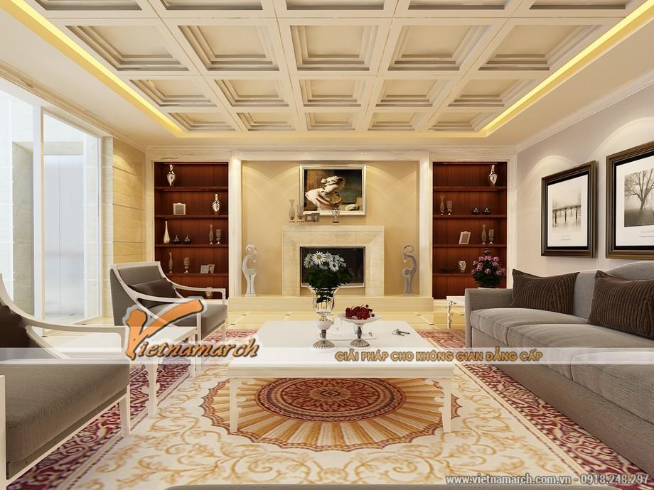 Thiết kế nội thất nhà phố - Nội thất phòng khách sang trọng