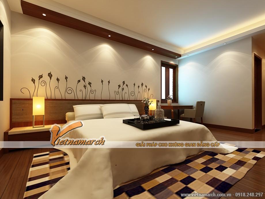 Không gian phòng ngủ ấm cúng ở trên tầng lửng