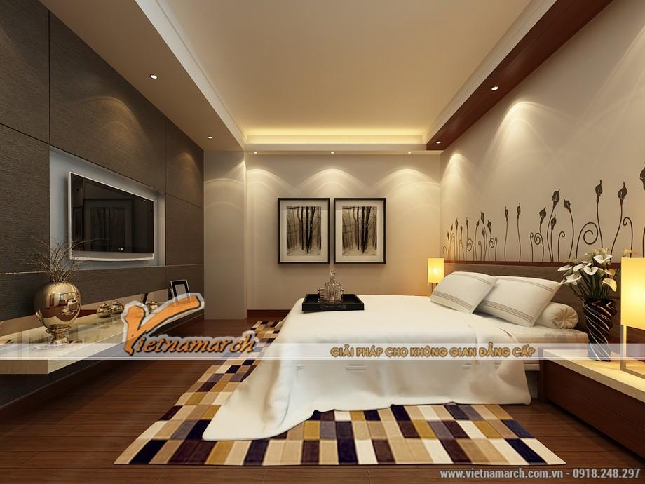 Nội thất phòng ngủ ấm cúng tiện nghi trong thiết kế nội thất nhà phố 4 tầng tại Hải Dương