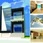 Thiết kế kiến trúc nhà phố thành trụ sở làm việc công trình nhà bác Cường – Hồ Tây