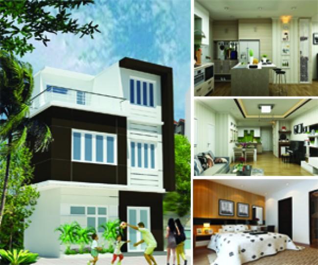 Thiết kế nhà mặt phố 3 tầng tại thường tín - Hà Nội