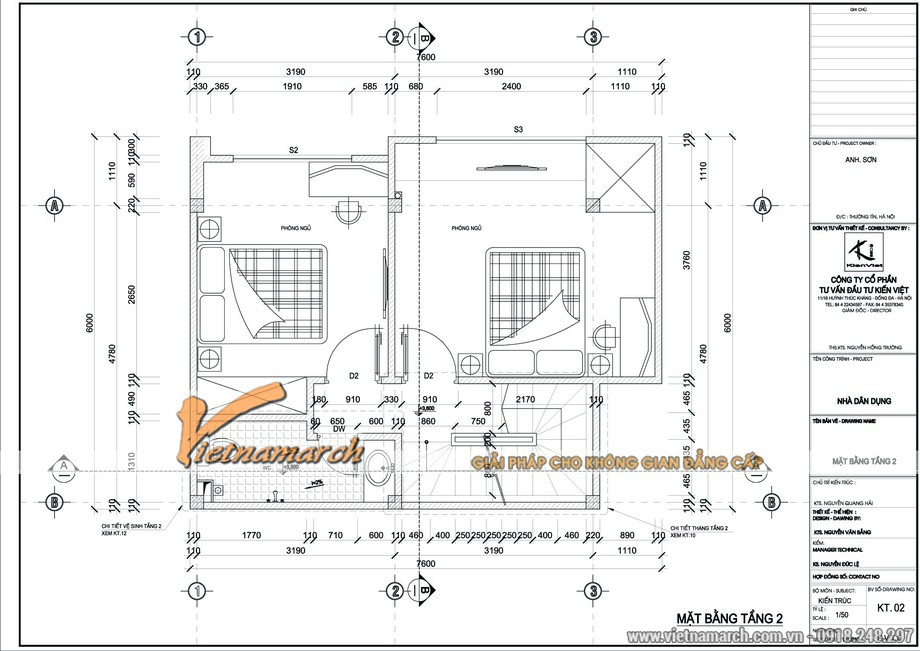 Mặt bằng tầng một với phòng khách và phòng bếp - thiết kế nhà mặt phố nhà anh Sơn - Thường Tín - Hà Nội