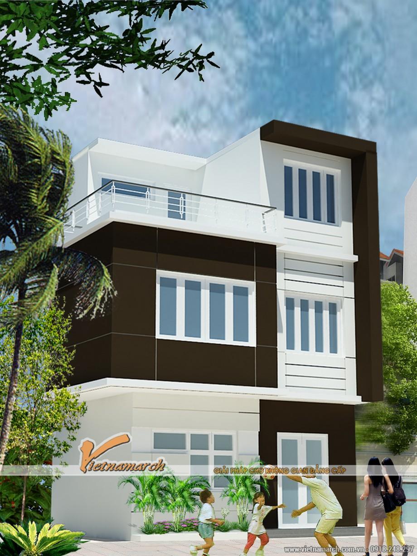 Phối cảnh tổng thể của ngôi nhà phố 3 tầng tại Thường Tín - Hà Nội