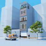 Thiết kế nhà phố 5 tầng hiện đại nhà anh Hiếu ở Từ Liêm – Hà Nội