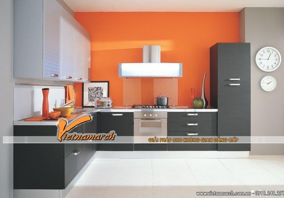 Mẫu tủ bếp cao cấp cho không gian bếp hiện đại