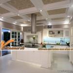 Mẫu thiết kế nội thất phòng bếp tân cổ điển sang trọng