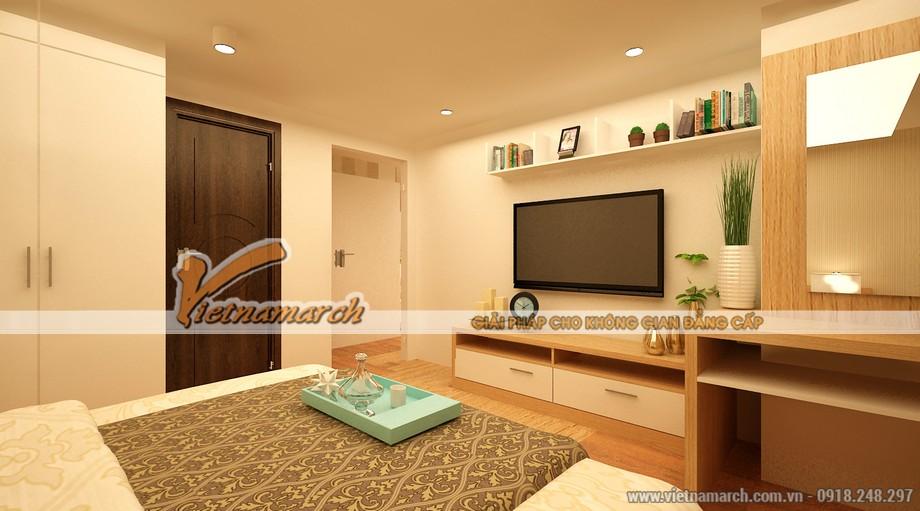 Phòng ngủ master hiện đại và đầy đủ tiện nghi - Nội thất chung cư Park Hill