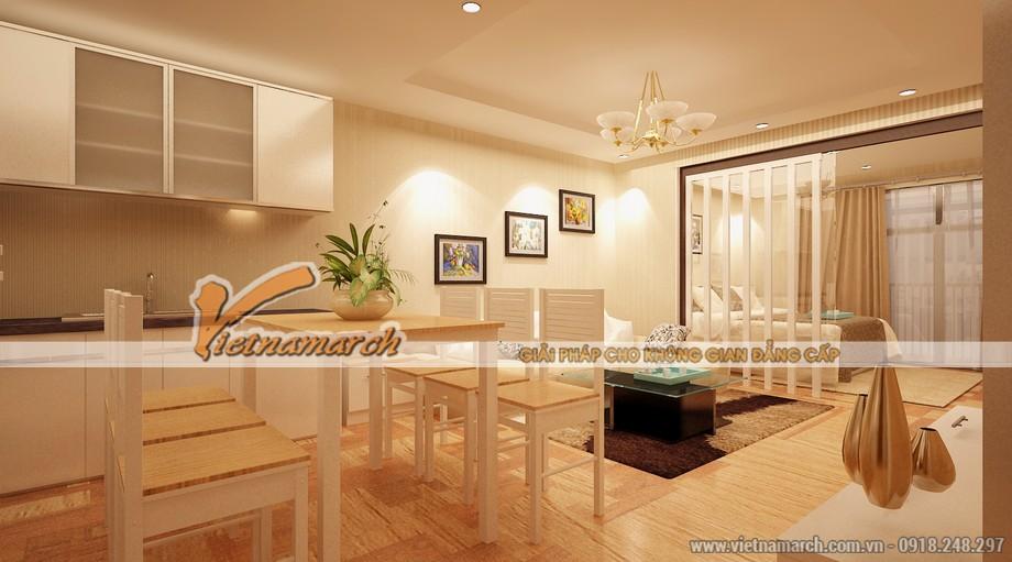 Phòng bếp hiện đại và tinh tế nhờ một bộ bàn ăn đẹp - tư vấn cải tạo căn hộ park hill 2 ngủ sang 3 ngủ