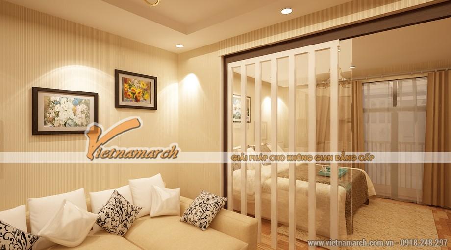 Phòng khách được trang trí hiện đại, tinh tế - Thiết kế nội thất chung cư Park Hill