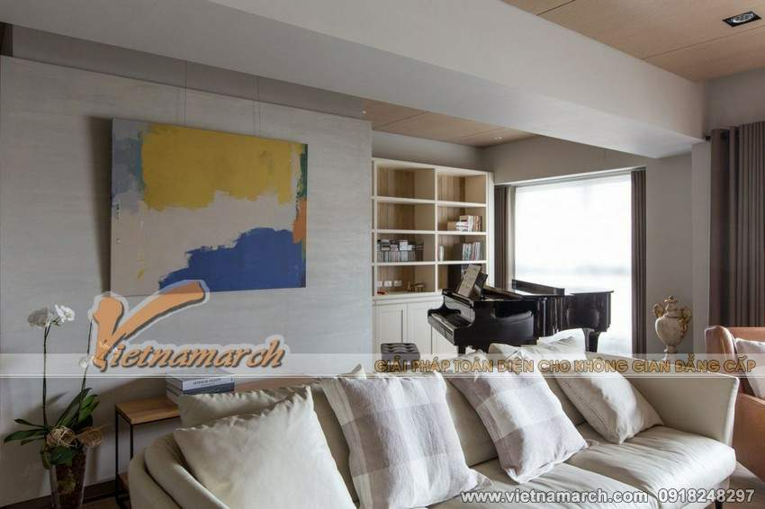 Nội thất phòng khách được thiết kế với từng chức năng sử dụng