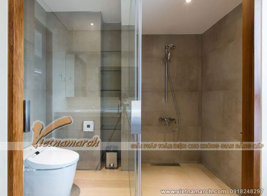 Thiết kế nội thất chung cư phòng tắm tinh tế