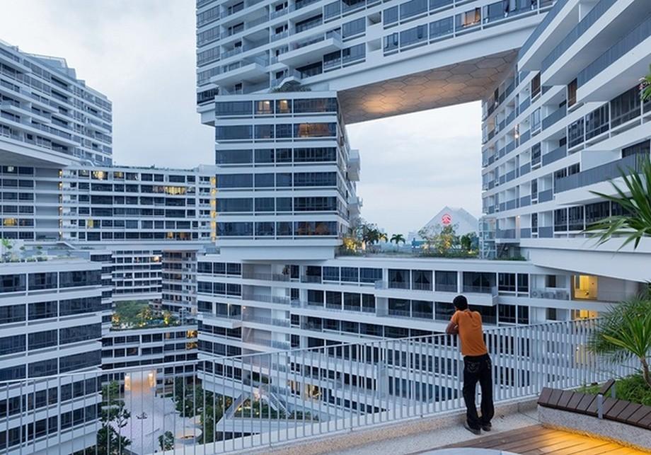 Kiến trúc nhà đan xen, xếp tầng lên nhau độc đáo của khu chung cư The Interlace