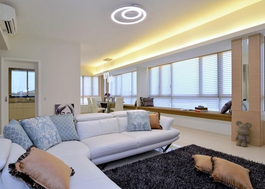 Thiết kế nội thất của các căn hộ theo phong cách tối giản, thanh lịch