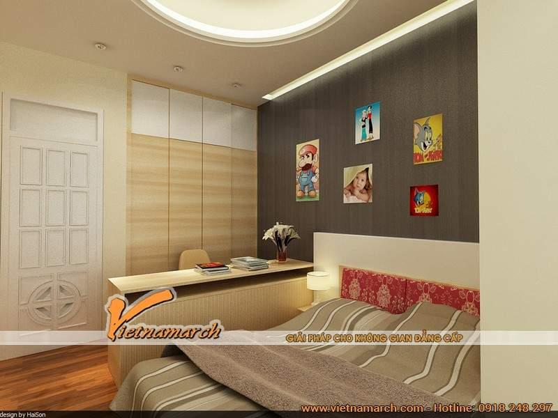 Thiết kế nội thất chung cư cho phòng ngủ của bé ngộ nghĩnh và đáng yêu