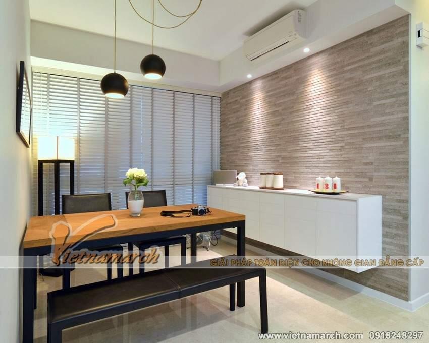 Nội thất trong phòng ăn cũng được thiết kế đơn giản