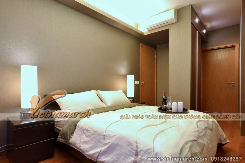 Phòng ngủ thiết kế đơn giản nhưng đầy đủ tiện nghi