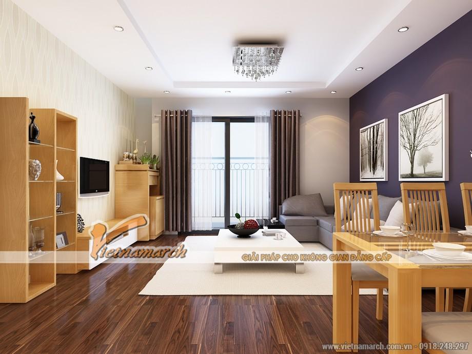Phòng khách được thiết kế hiện đại và rộng rãi - Nội thất chung cư Park Hill
